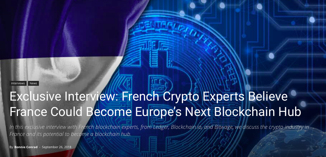 (Blokt) Exclusive Interview: French Crypto Experts Believe France Could Become Europe's Next Blockchain Hub